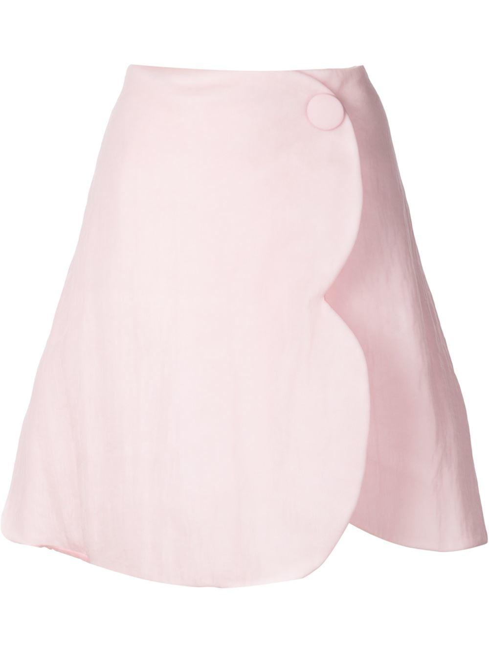 rocha wavy cut a line wrap skirt in pink lyst