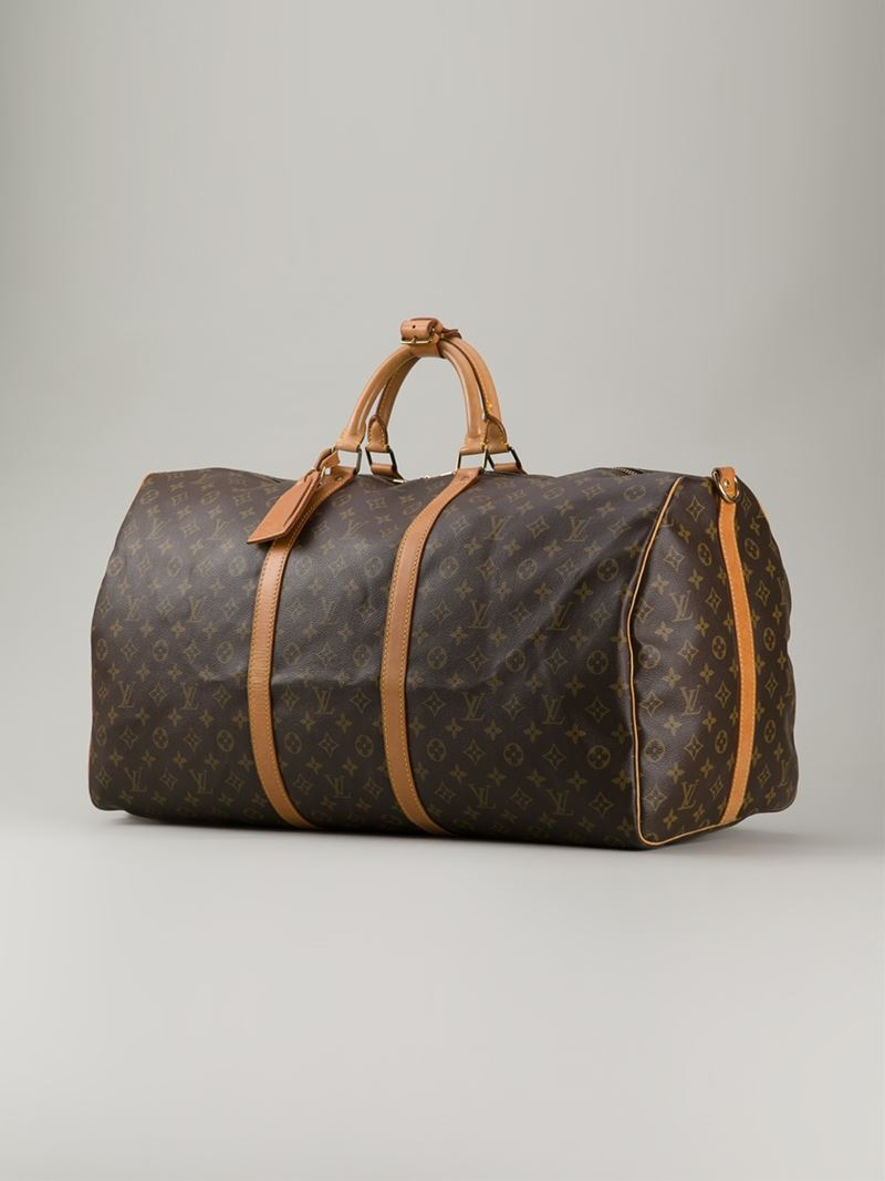 Louis Vuitton Trash Bags Gallery Louis Vuitton 39 Monogram Keepall 60 39 Bag In Brown Lyst