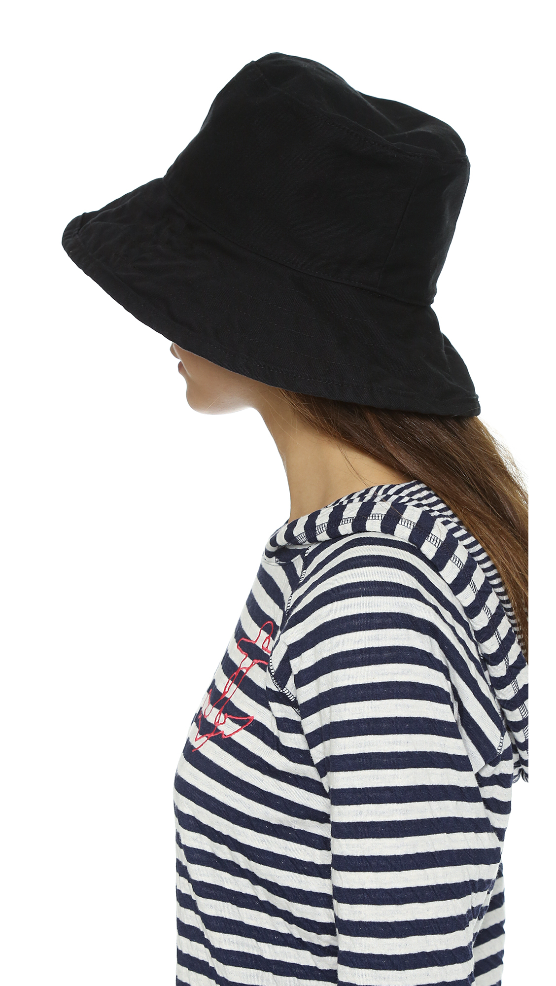 f06340a9f Hat Attack Black Washed Cotton Bucket Hat