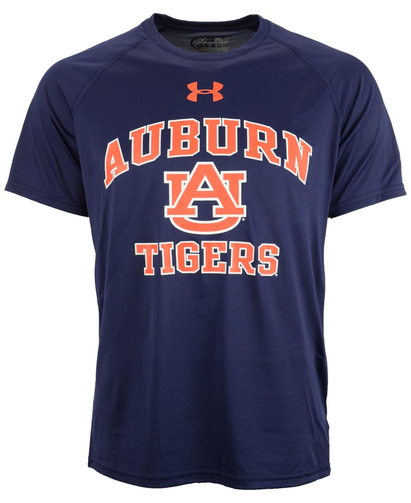 Lyst Under Armour Men S Short Sleeve Auburn Tigers T