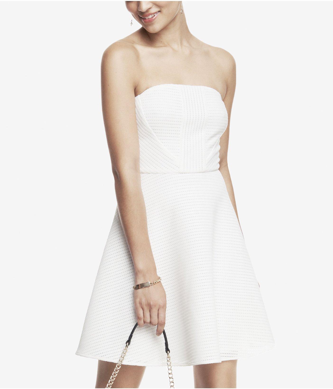 22d9366ed7d Turmec » express black and white strapless dress