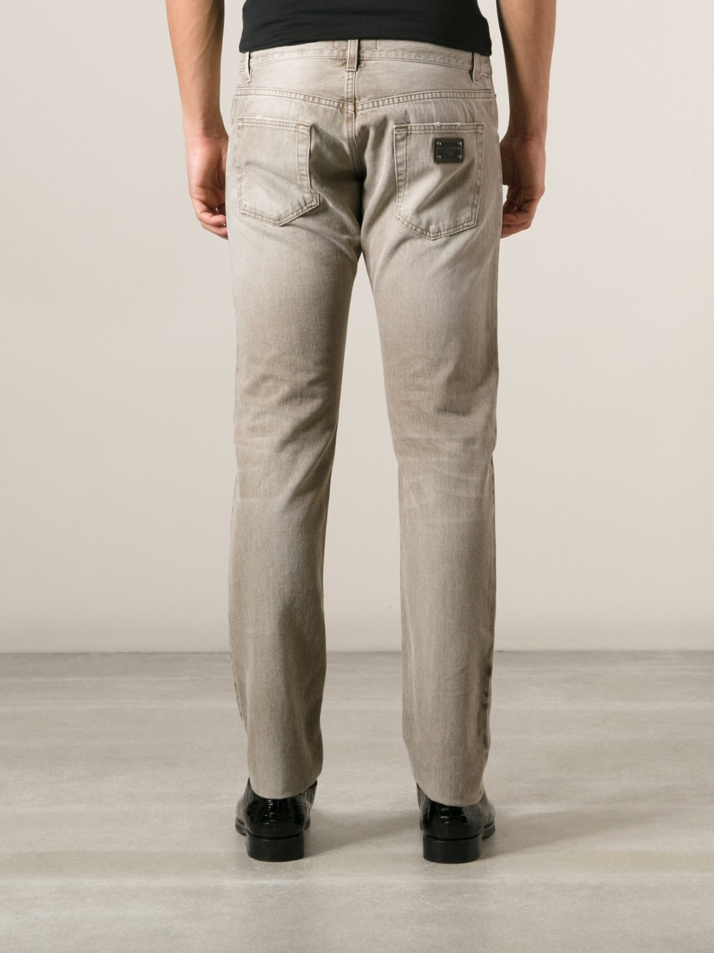 Dolce & Gabbana Slim Jeans in Natural for Men