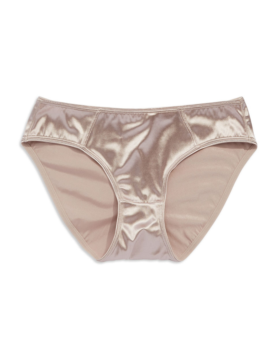 c4b8a4673f05 Fine Lines Satin Brief Panties in Brown - Lyst
