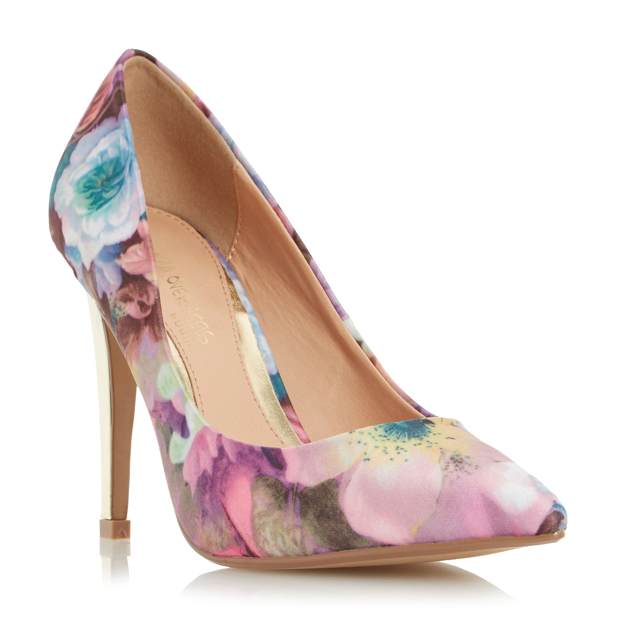 dune addyson square heel pointed courts in multicolor lyst
