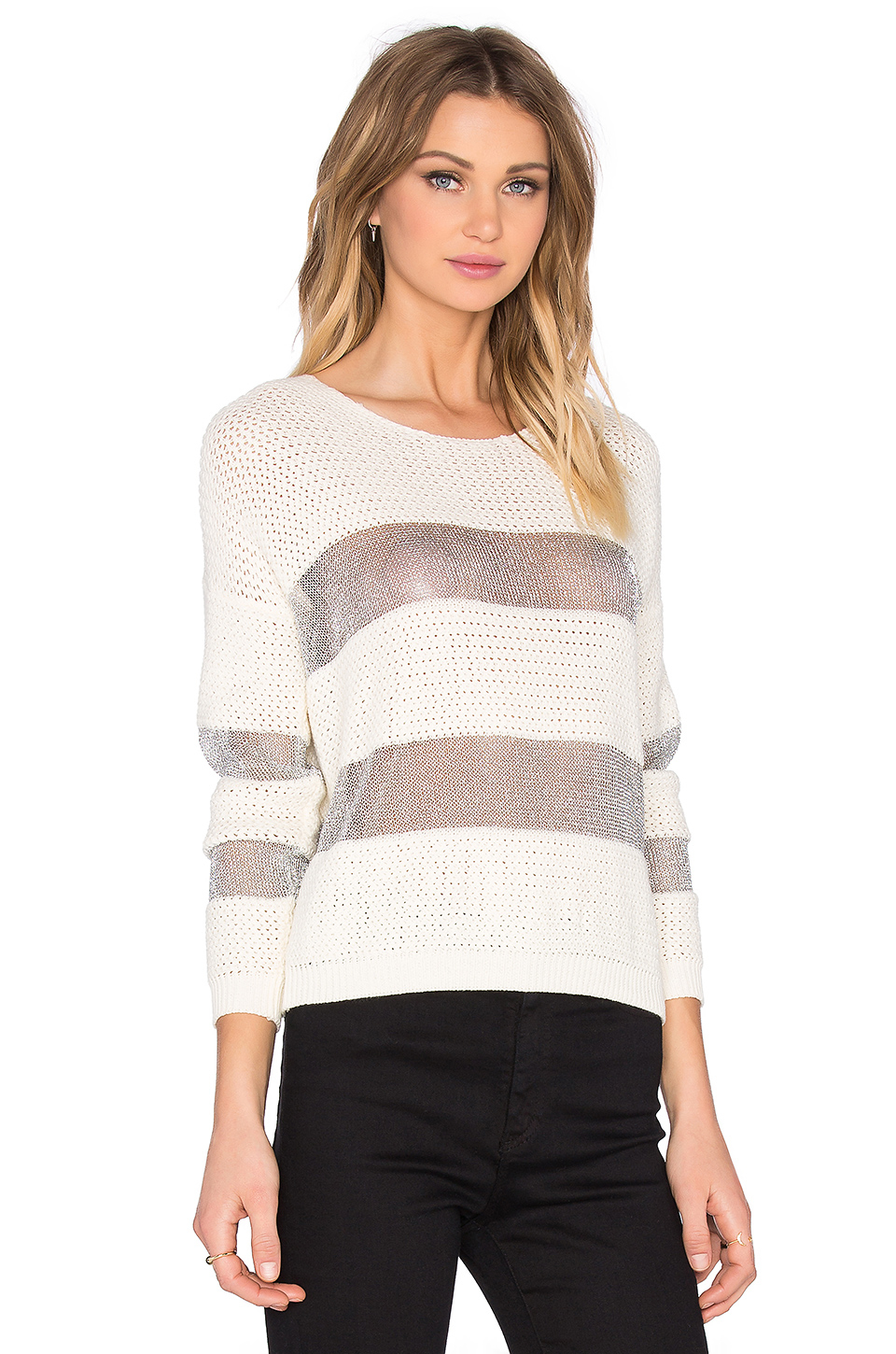 suncoo penelope sweater in gray lyst. Black Bedroom Furniture Sets. Home Design Ideas