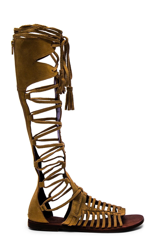 Free People Sun Seeker Gladiator Sandal In Natural Lyst