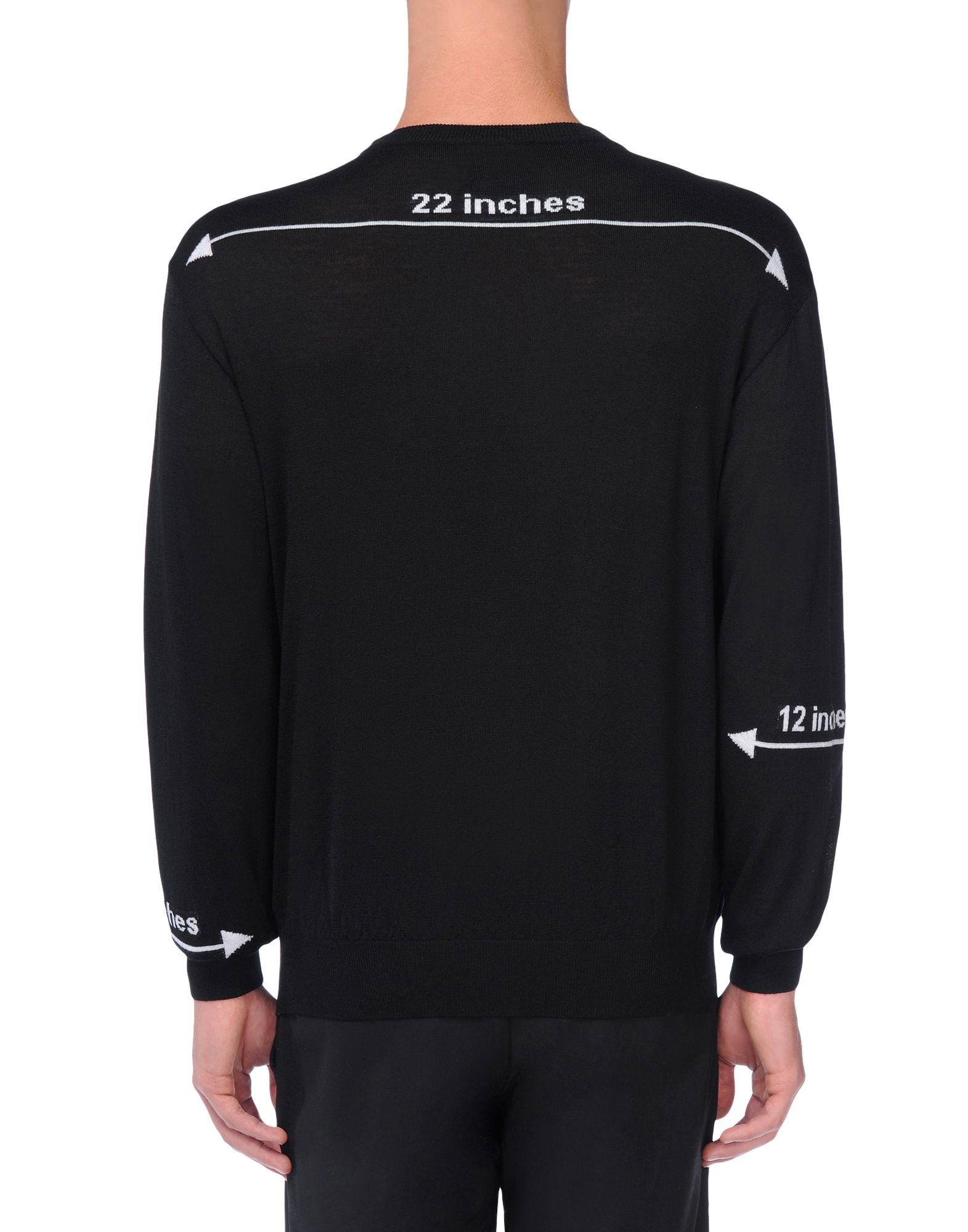 Lyst Moschino Crewneck Sweater In Black For Men