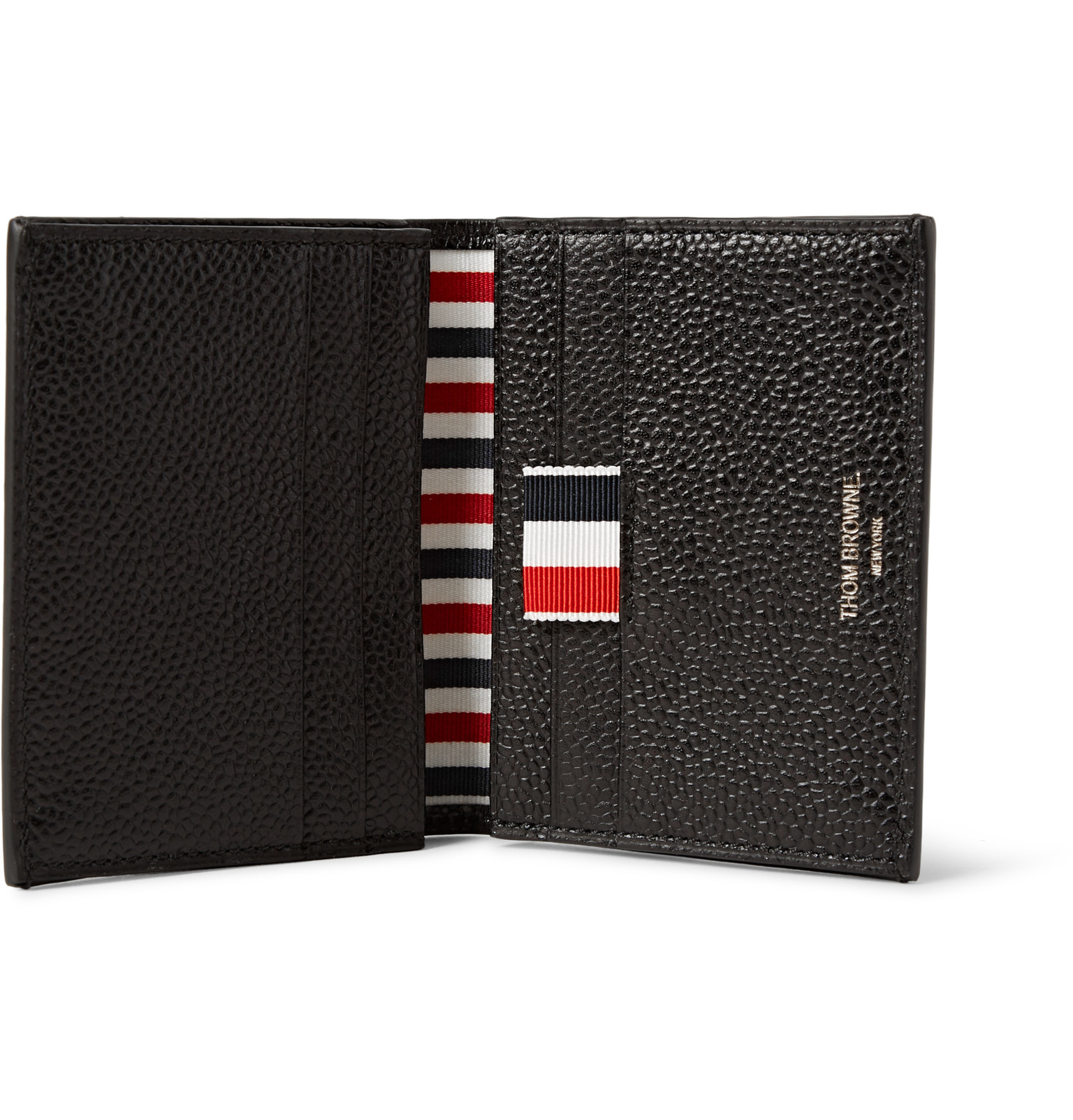 bd79e0176e Thom Browne Striped Pebble-grain Leather Cardholder in Red for Men - Lyst