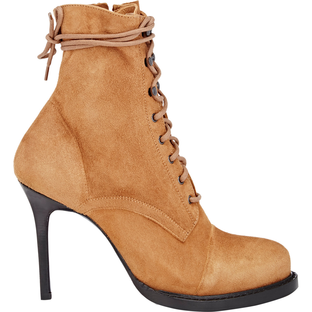 demeulemeester s suede lace up boots in brown lyst