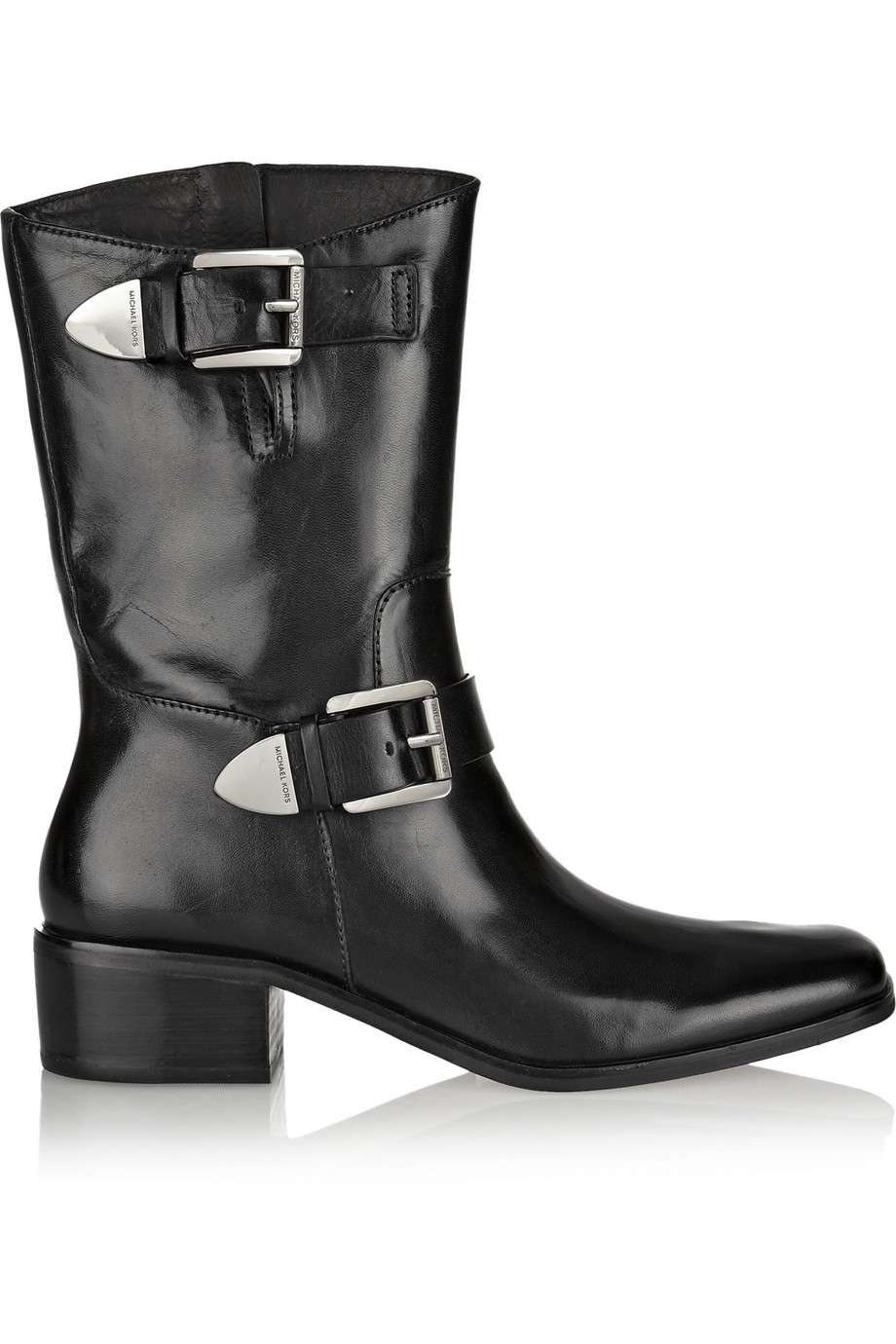 michael michael kors robin glossed leather ankle boots in. Black Bedroom Furniture Sets. Home Design Ideas