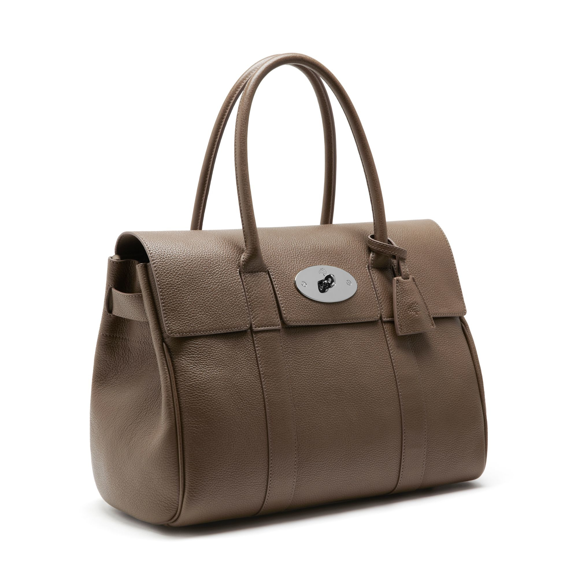 Lyst mulberry bayswater leather bag in natural for The bayswater