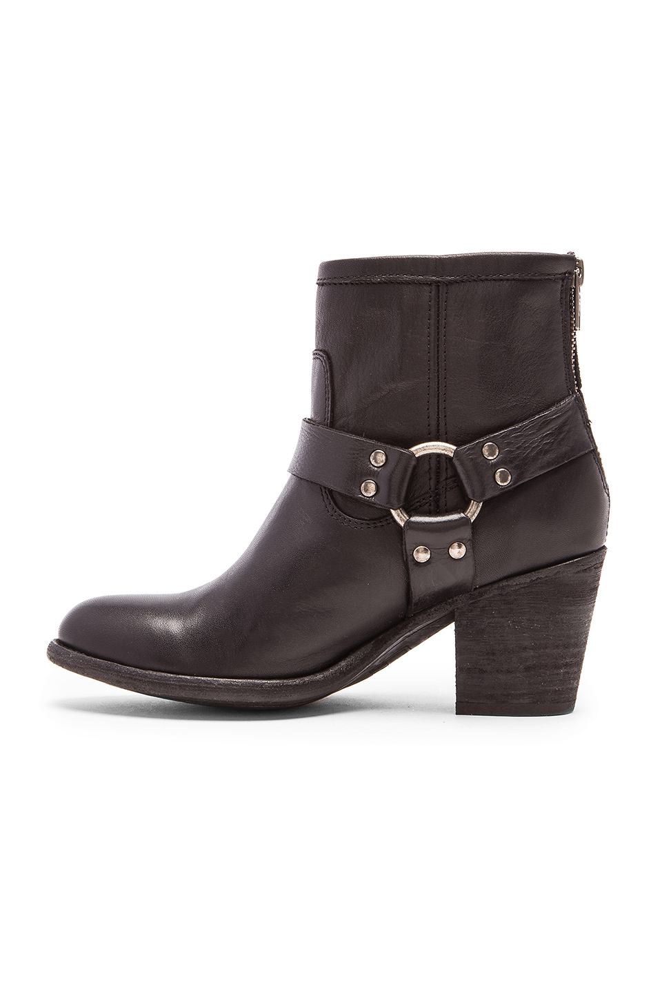frye harness ankle boots in black lyst