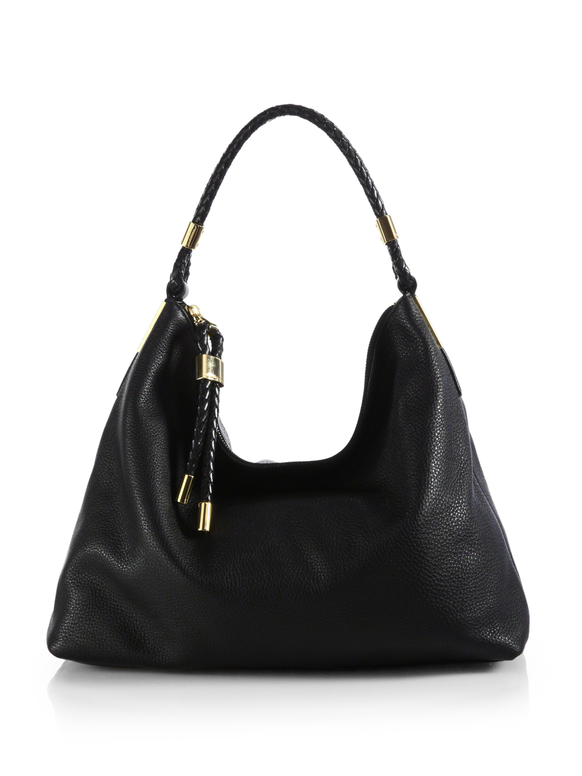 michael kors skorpios medium hobo bag in black lyst. Black Bedroom Furniture Sets. Home Design Ideas