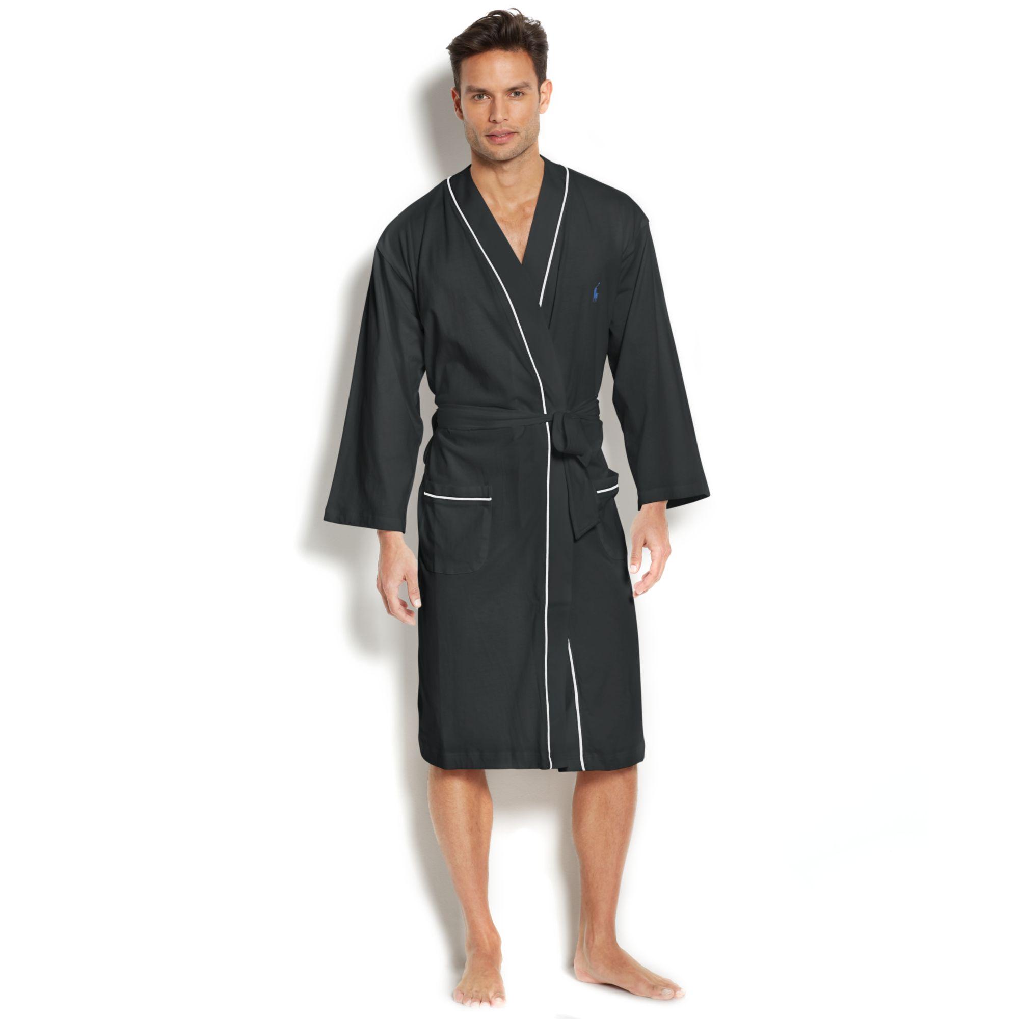 Lyst - Ralph Lauren Polo Mens Jersey Kimono Robe in Gray for Men a7cde049e99