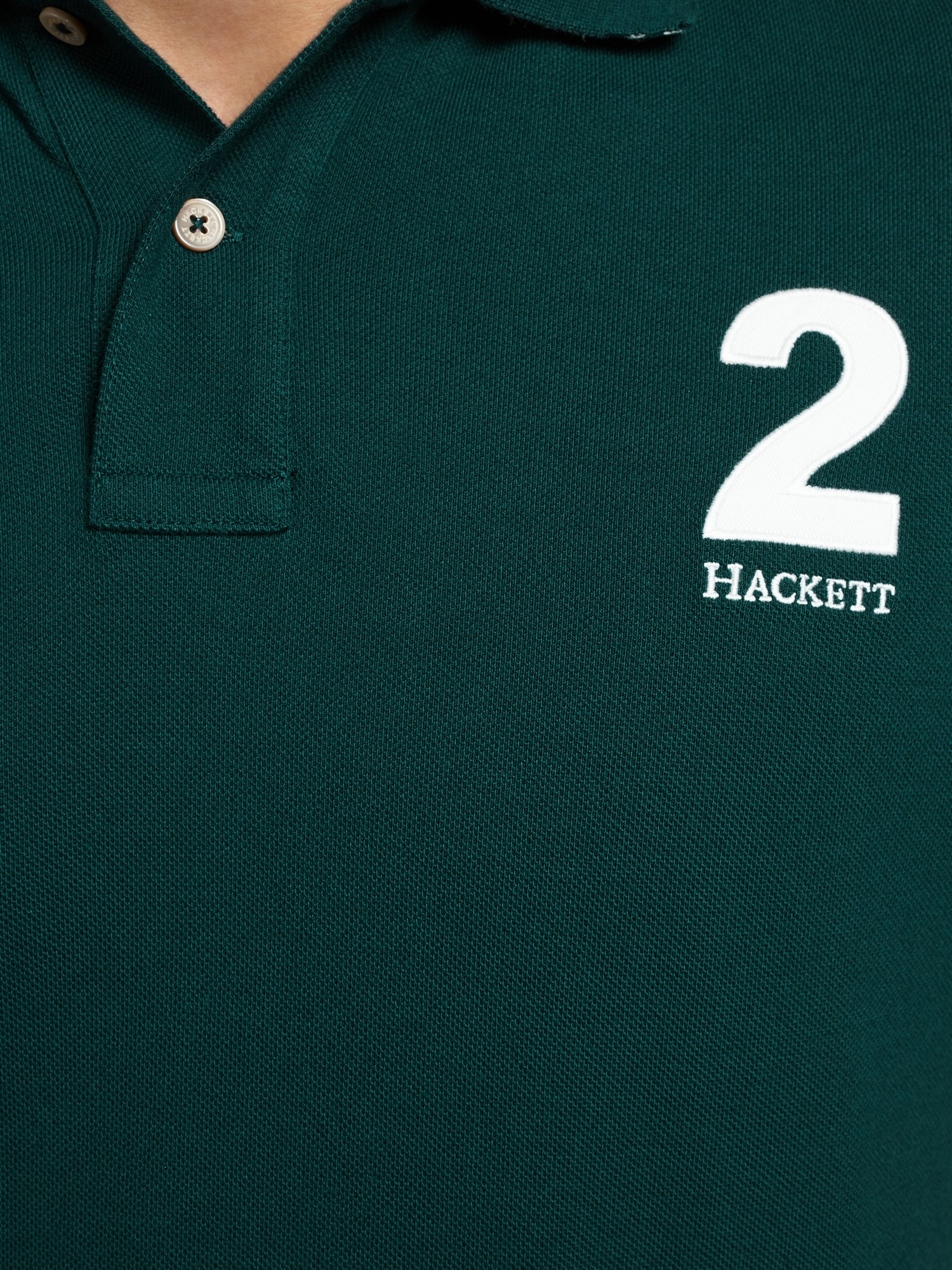 Hackett Number 2 Short Sleeve Polo Shirt In Green For Men