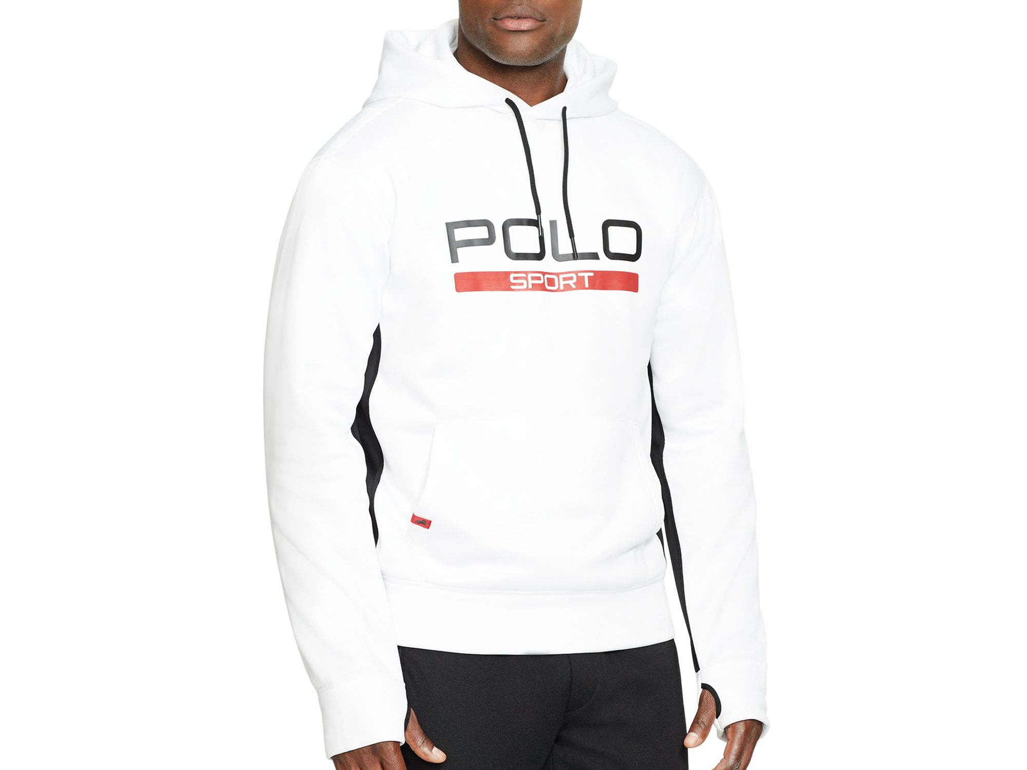 Lyst - Pink Pony Polo Sport Tech Fleece Hoodie in White for Men f51a98f501d1
