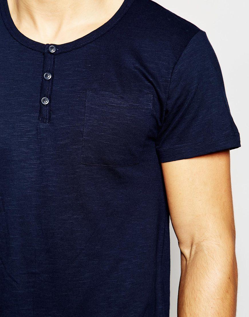 esprit t shirt in slim fit in blue for men lyst. Black Bedroom Furniture Sets. Home Design Ideas