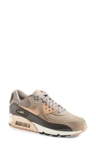 sale retailer 60216 10771 ... shopping lyst nike air max 90 sneaker in metallic 1a5bf dc4a2