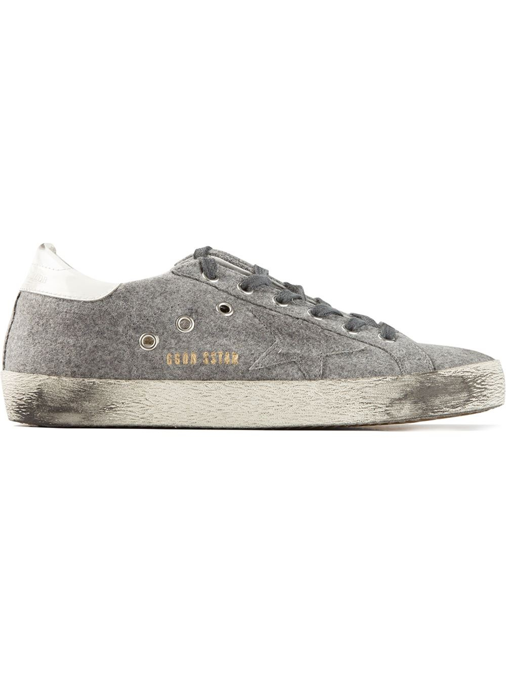 8fee93ff4dbd Lyst - Golden Goose Deluxe Brand Superstar Flannel Trainers in Gray