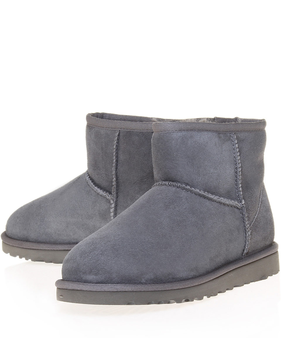 286d067459a UGG Gray Mini Grey Classic Sheepskin Boots for men