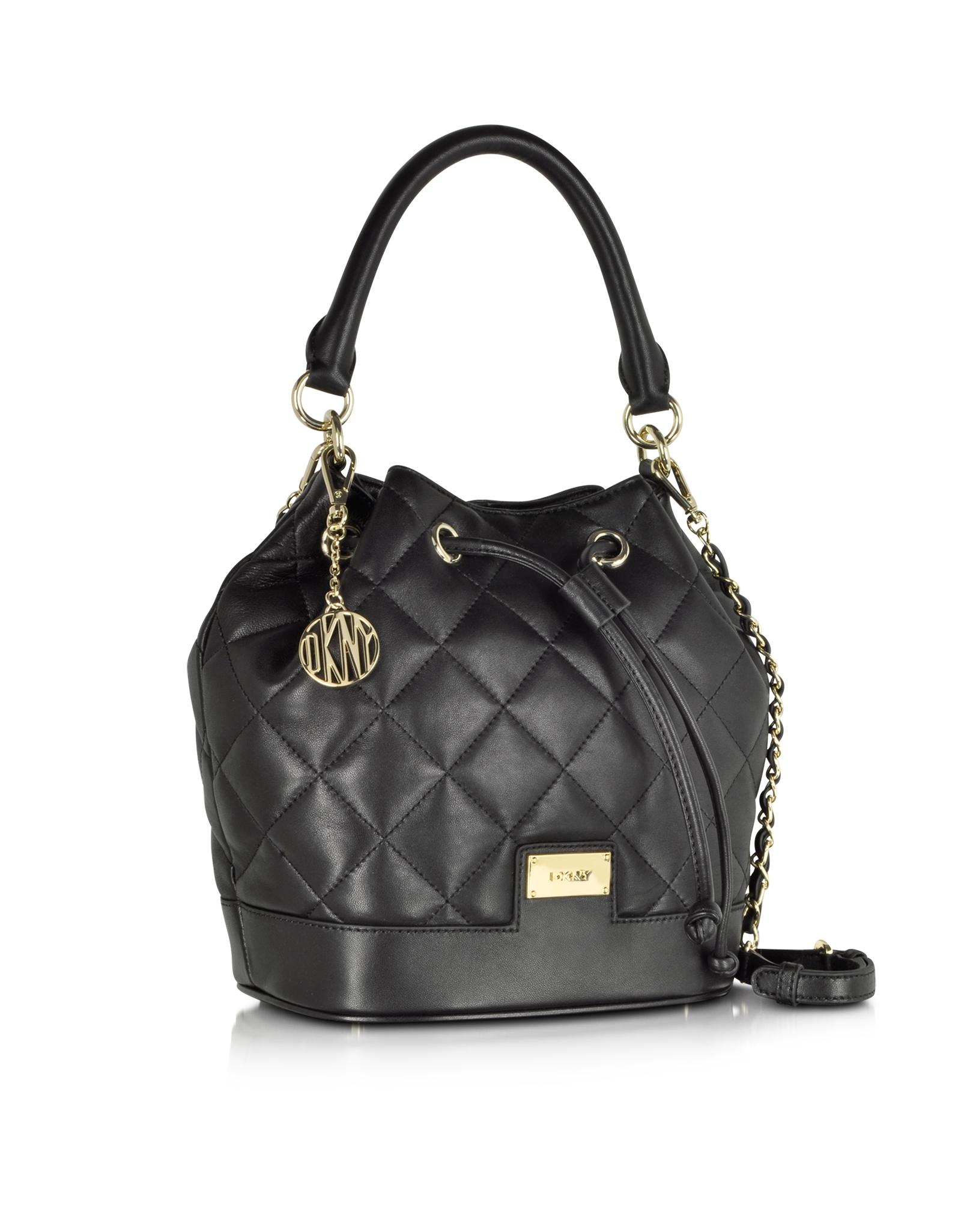 Lyst - Dkny Gansevoort Black Quilted Nappa Bucket Bag in Black : dkny black quilted purse - Adamdwight.com