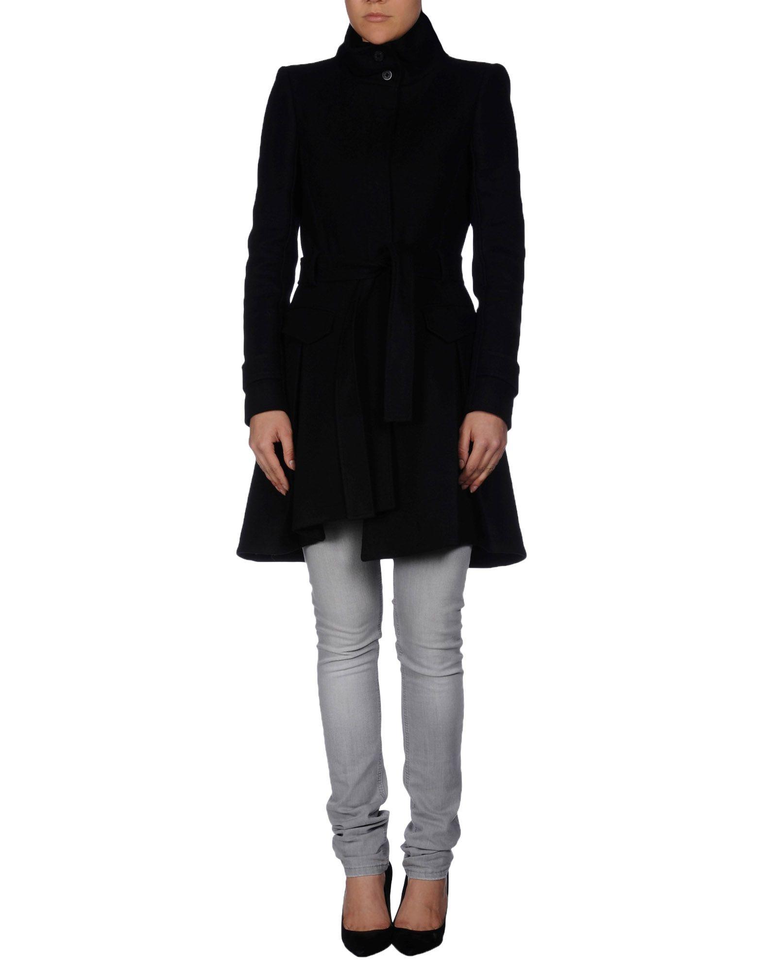 Patrizia Pepe Coat In Black Lyst