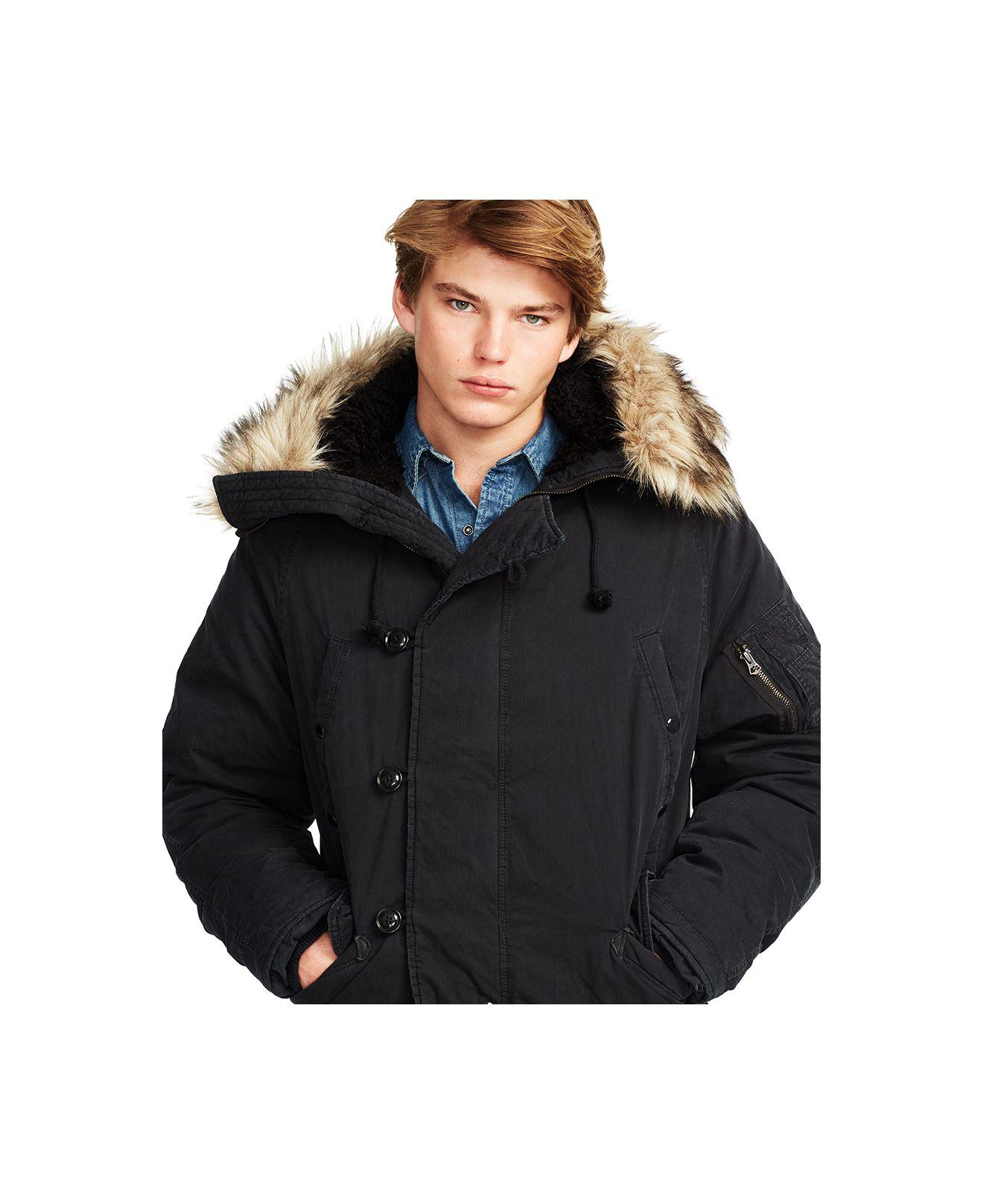 ae5b3dbd90ee Lyst - Denim   Supply Ralph Lauren Down Snorkel Jacket in Black for Men