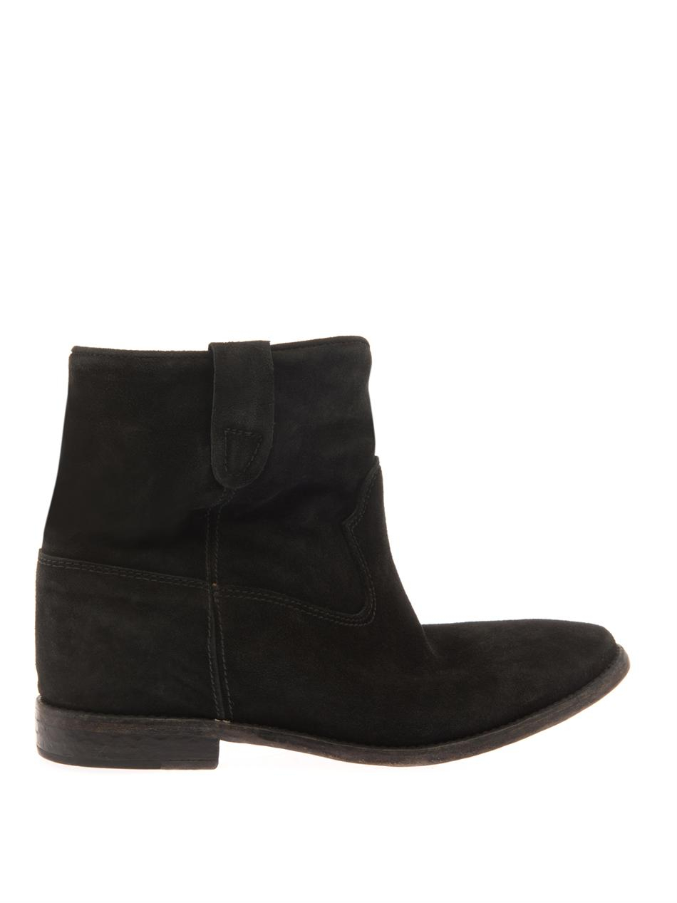 marant crisi suede boots in black lyst