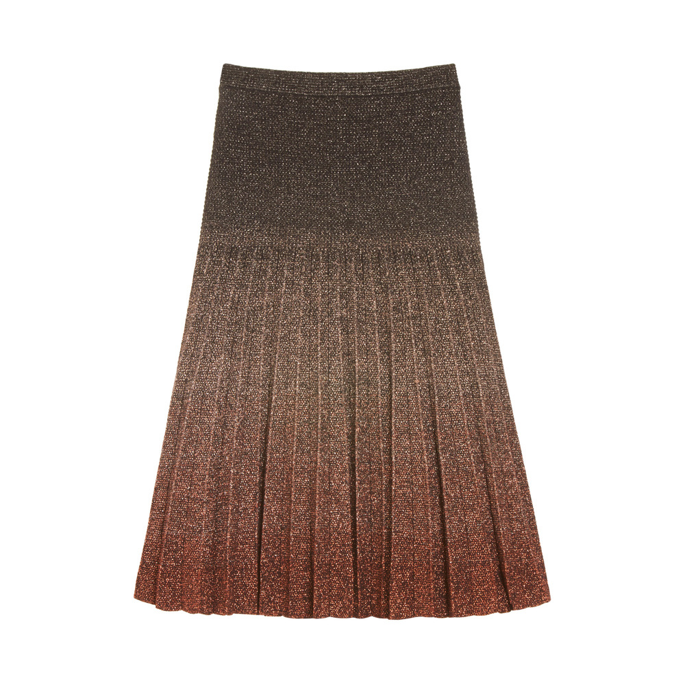 Lyst Mulberry Degrade Lurex Skirt In Black