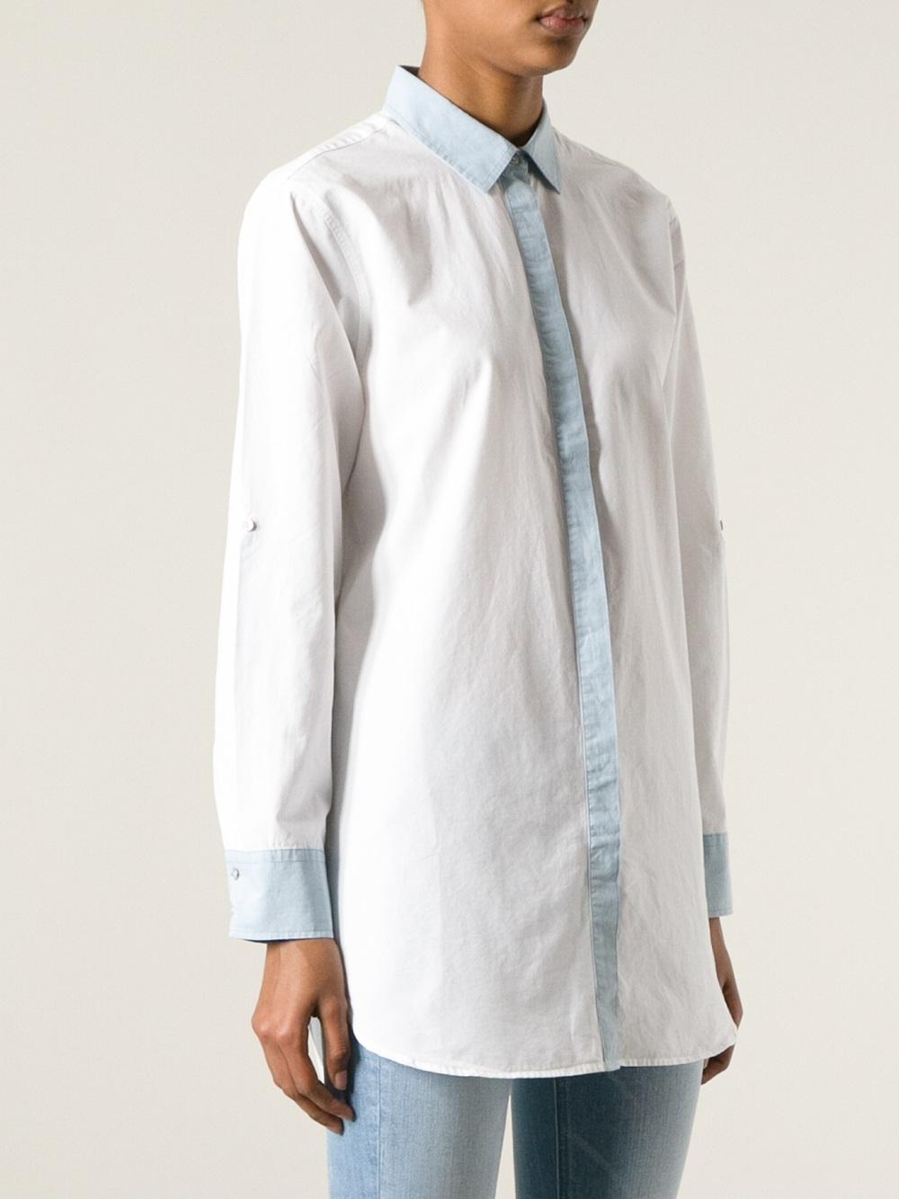 e0968e61ee994 Lyst - M.i.h Jeans Oversized Shirt in White