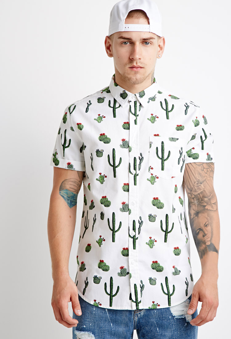 The White Cactus Forever For Men Lyst Been To Waitlist Print 21 Added You've Shirt AL4jR5