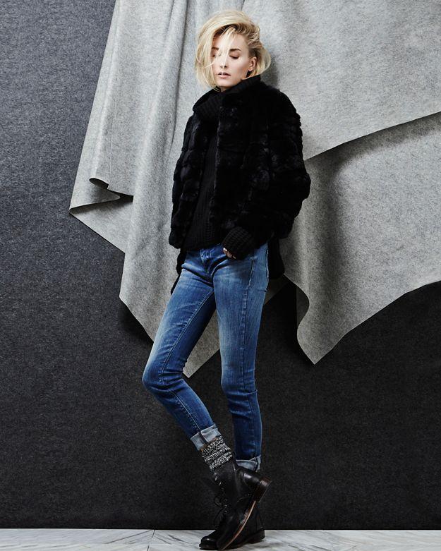 55c516770 Yves Salomon Exclusive Pieced Rex Rabbit Fur Bomber Jacket Black in Black -  Lyst