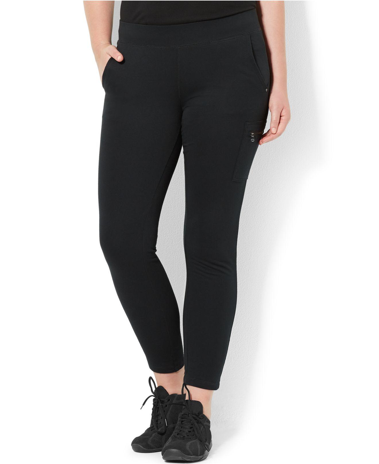 Black ankle pants plus size