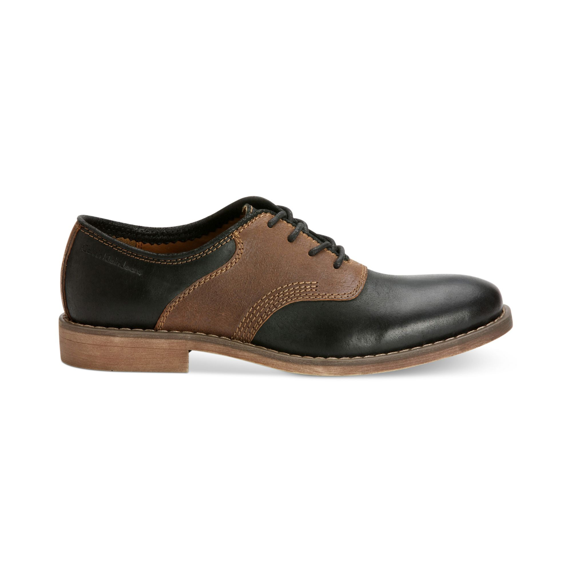 calvin klein jeans oris saddle shoes in brown for men lyst. Black Bedroom Furniture Sets. Home Design Ideas