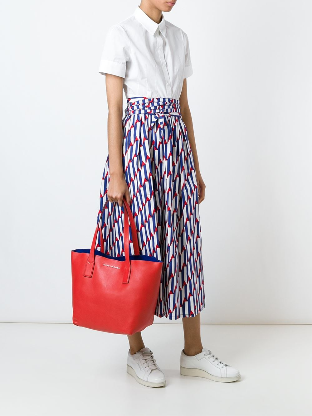 Marc Jacobs Leather Wingman Tote in Red (Pink)
