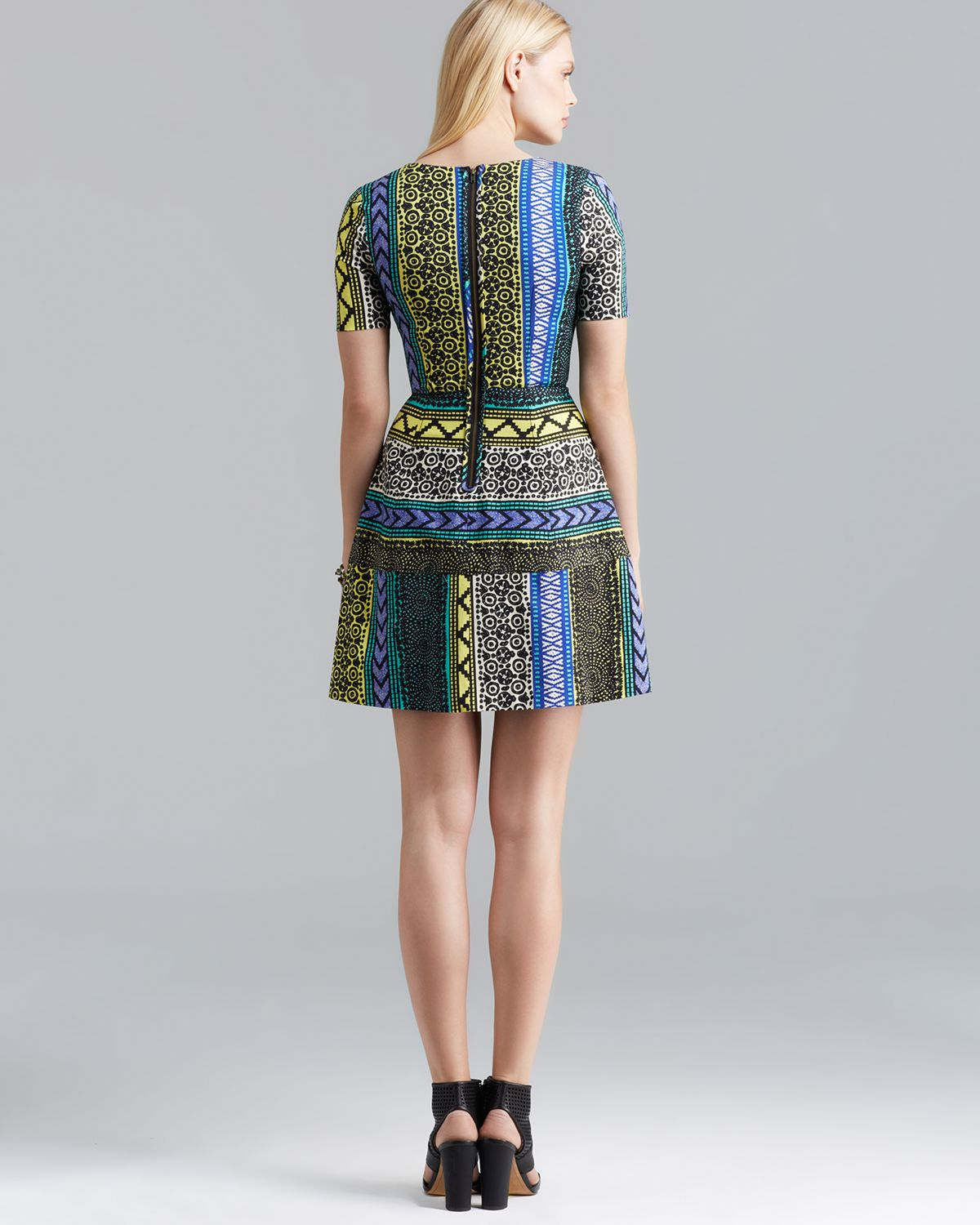 Tracy Reese Dress Directional Frock Tribal Print - Lyst-6075