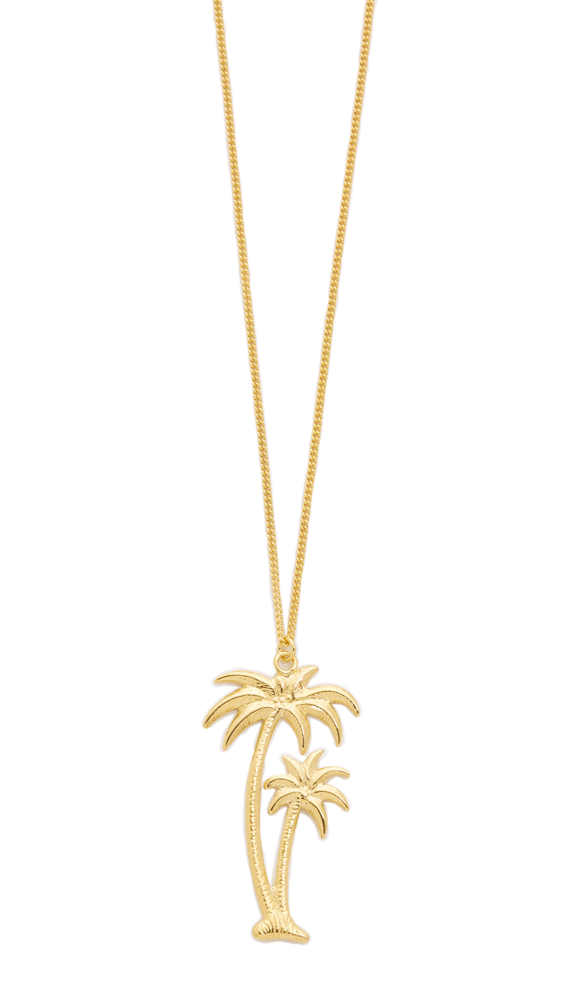 New palm tree diamond necklace jewellrys website wouters hendrix palm tree pendant necklace in metallic aloadofball Image collections