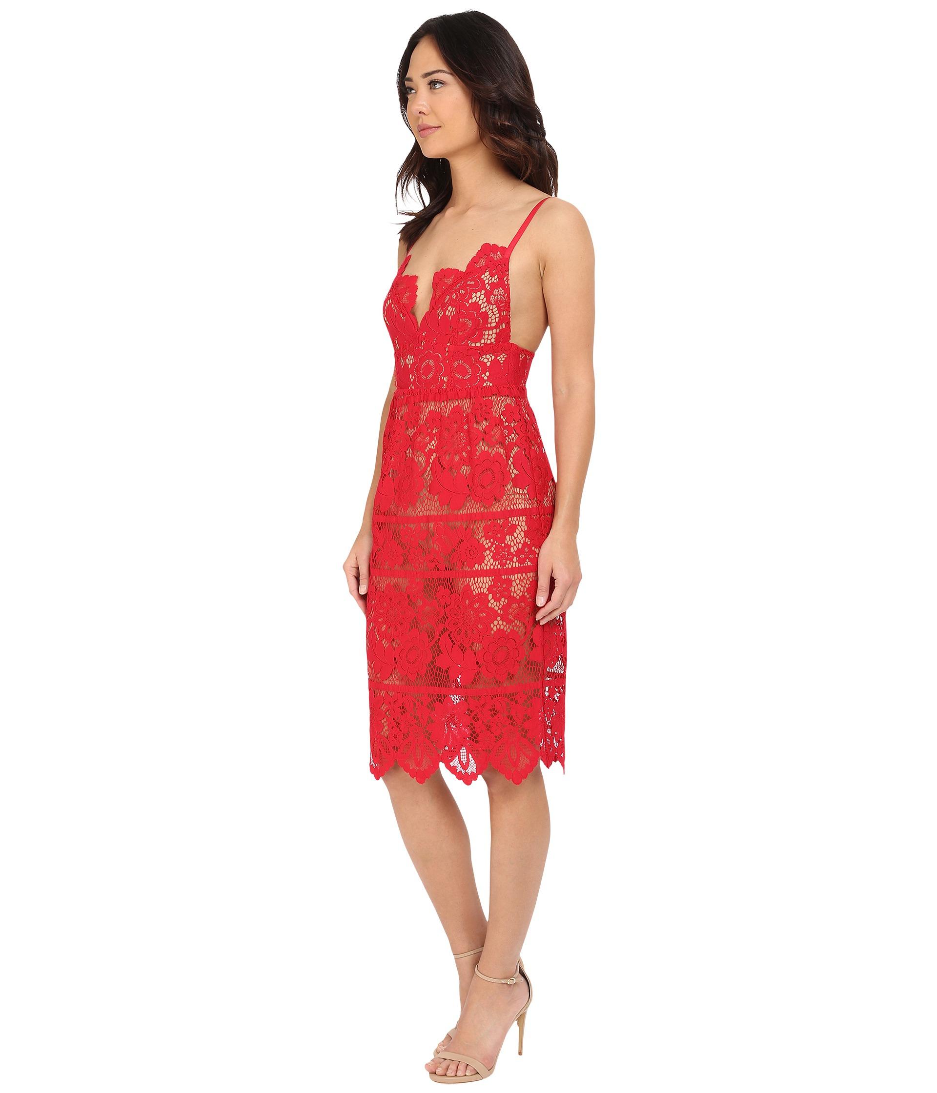3c6eaca228bcb For Love & Lemons Gianna Dress in Red - Lyst