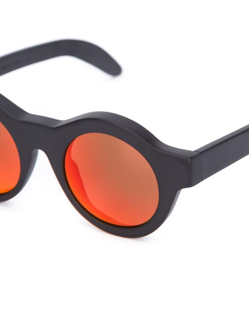 Kuboraum Round Frame Sunglasses in Black