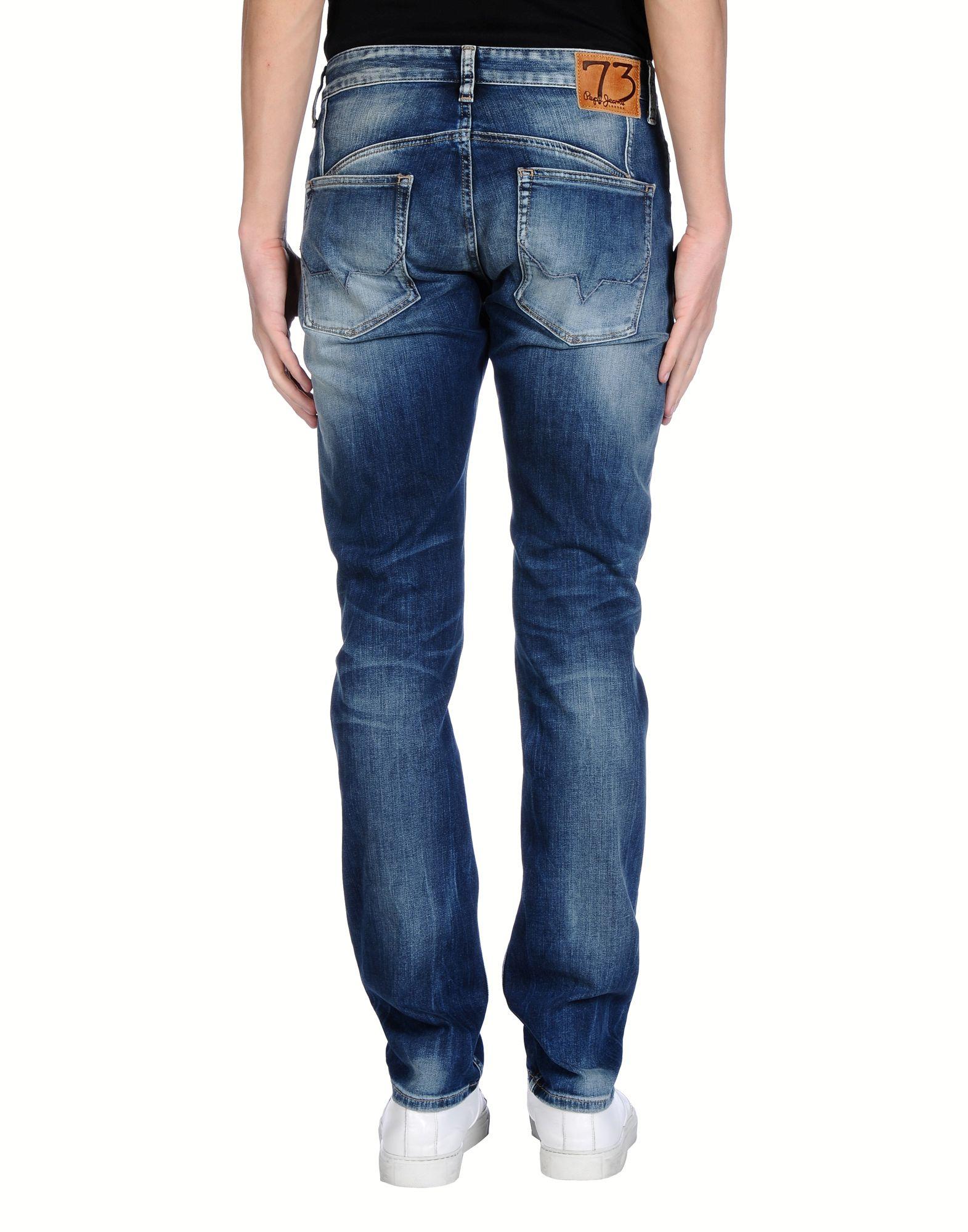 lyst pepe jeans denim trousers in blue for men. Black Bedroom Furniture Sets. Home Design Ideas