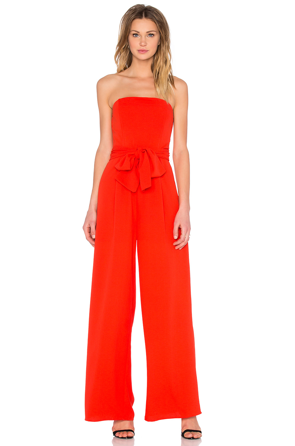 9a3069f26cd Lyst - Lucy Paris Natalie Jumpsuit in Red
