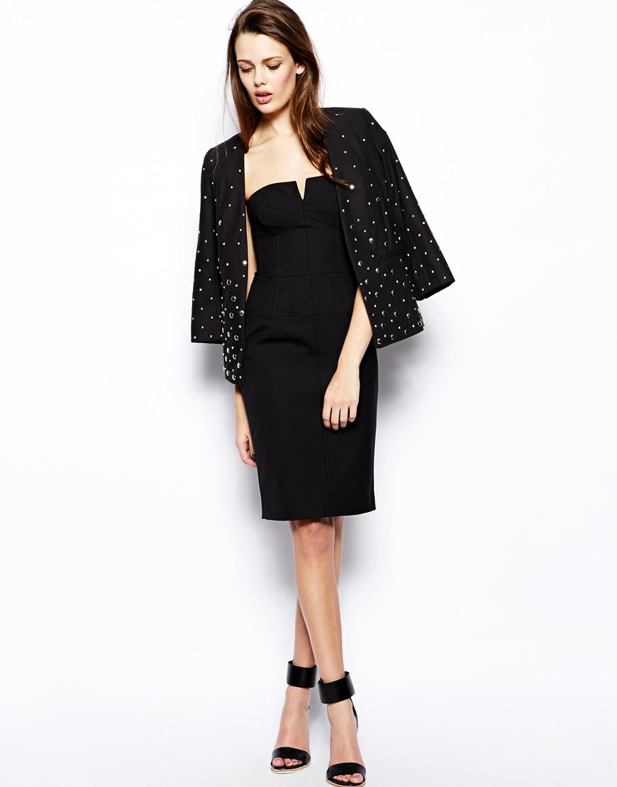 Days Of Winter Strapless Dress in Black