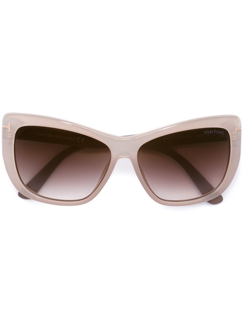 02adfe8906f47 Tom Ford  lindsay  Sunglasses in Natural - Lyst