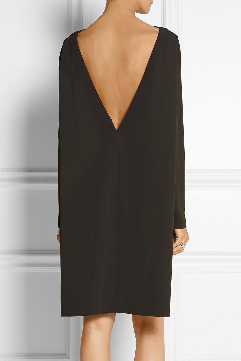 4ef2eaf31f4 Lyst - Calvin Klein Amsai Stretchcrepe Dress in Brown