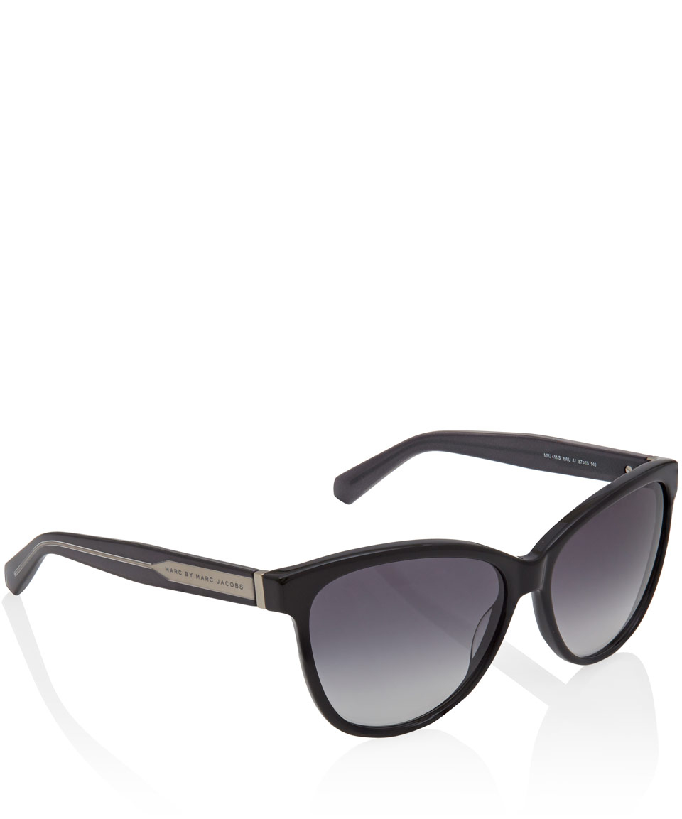 Marc Jacobs Cat Eye Sunglasses  marc by marc jacobs black acetate cat eye sunglasses in black lyst
