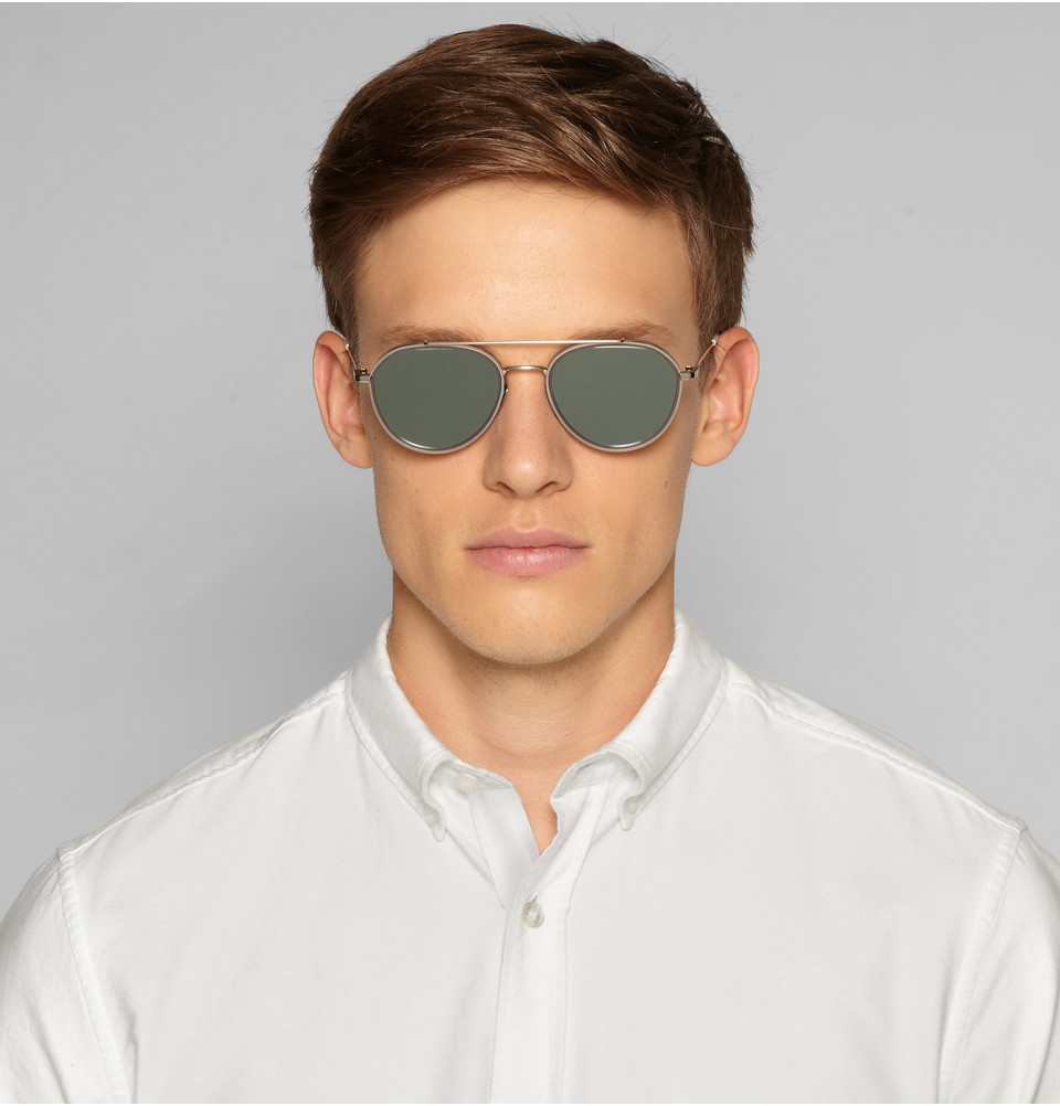 mirrored aviator sunglasses - Metallic Thom Browne Qgh4GiK