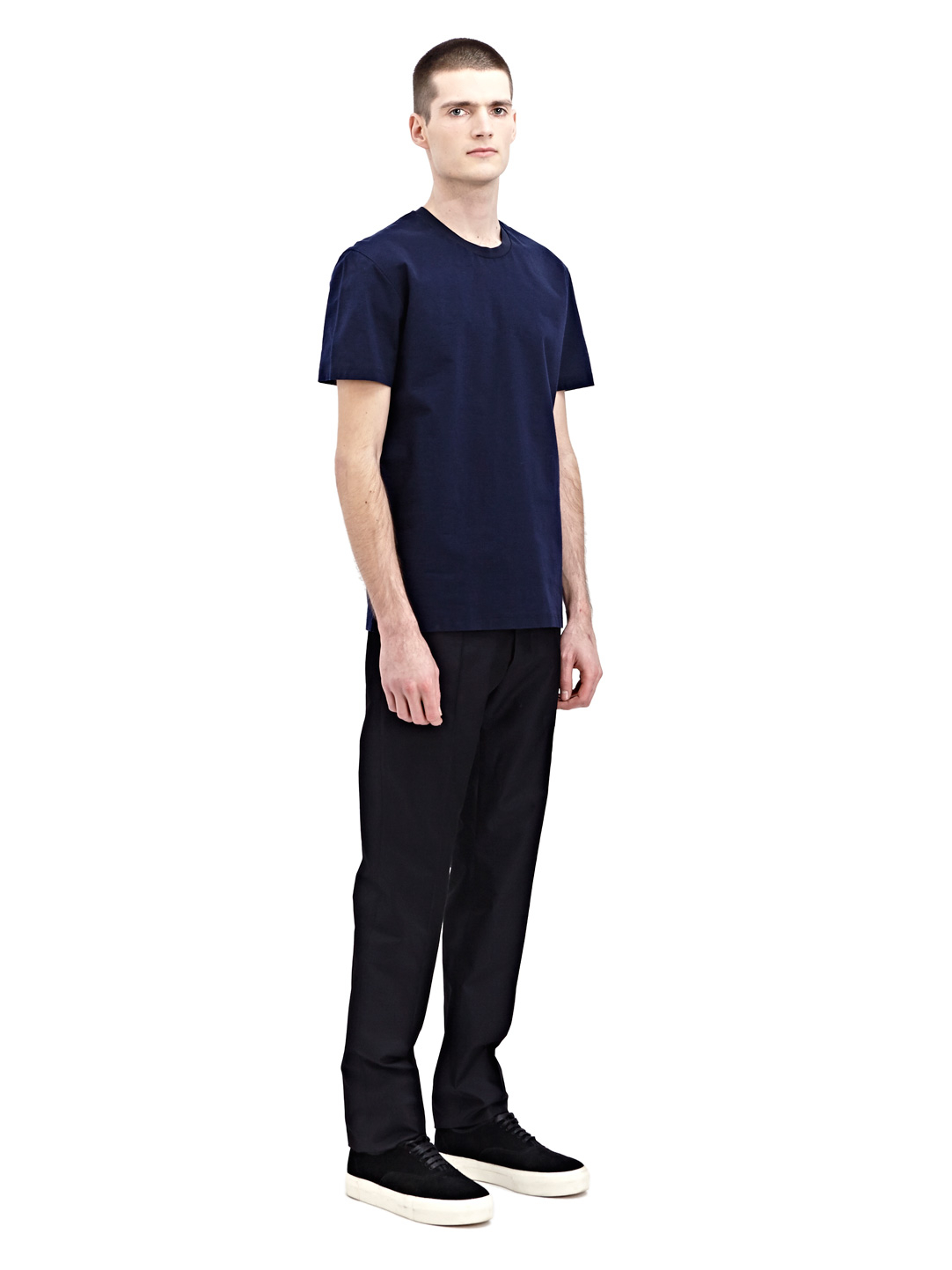 jil sander mens basic pleated pants in blue for men lyst. Black Bedroom Furniture Sets. Home Design Ideas