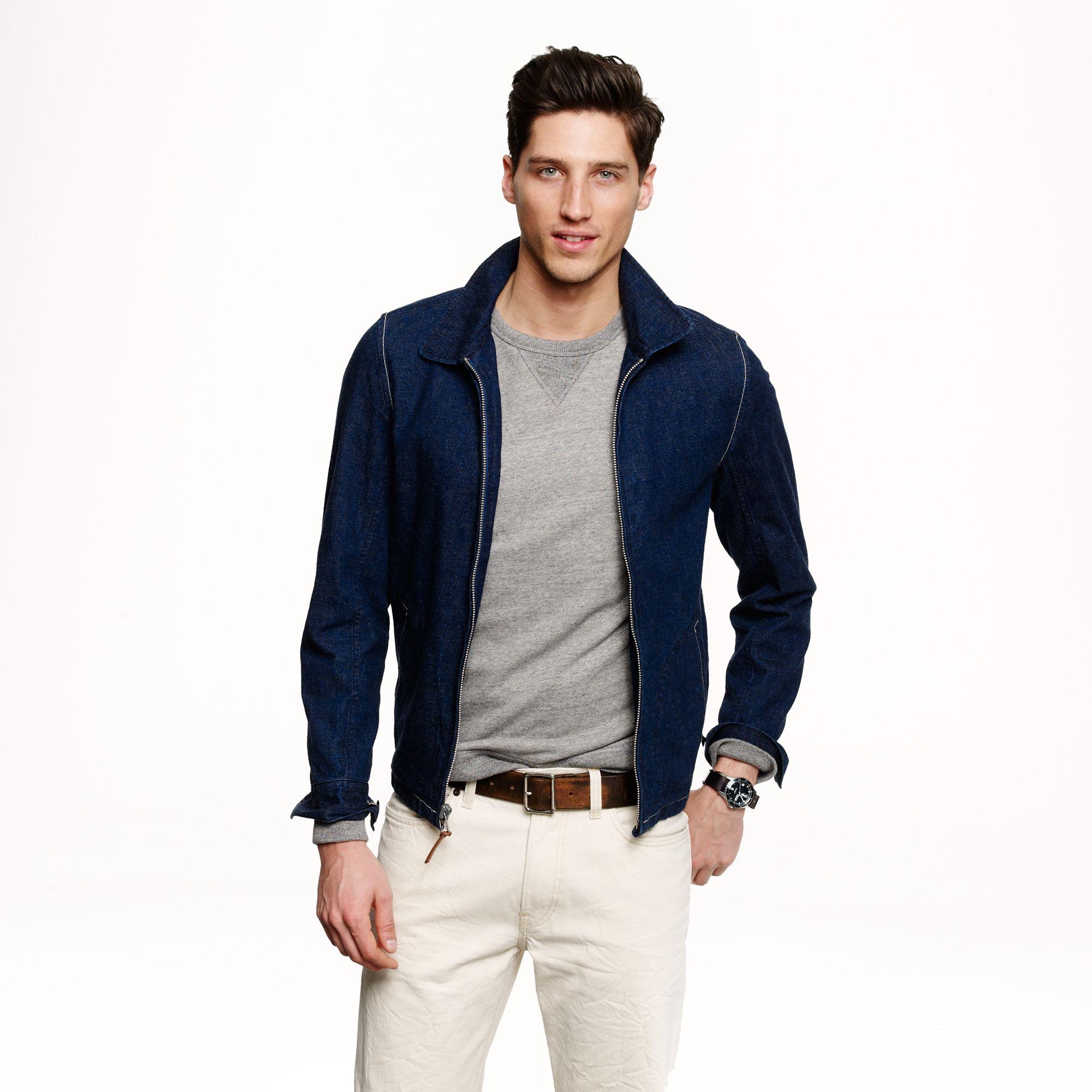 J.Crew Wallace Barnes Indigo Deck Jacket in Japanese Selvedge Denim in Blue for Men