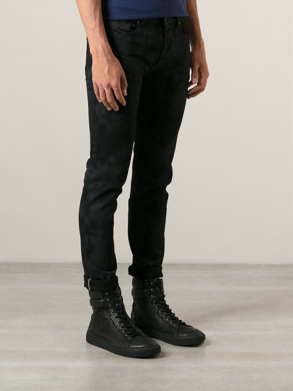 Diesel black gold Patterned Skinny Jeans in Black for Men | Lyst