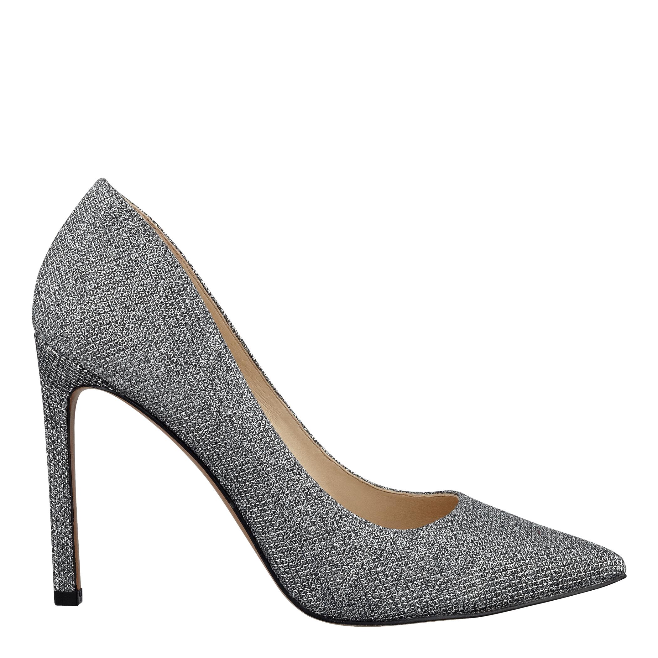 Lyst Nine West Tatiana Pointed Toe Pumps In Metallic. Shoe Nine West Pewter  Charly2 Heel Court Women